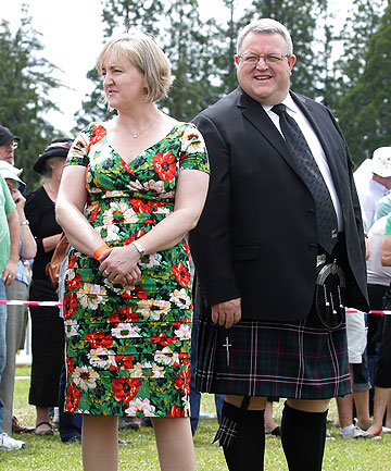 Amy Adams and Gerry Brownlee