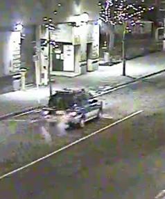 The vehicle believed to have been involved in a crash with a cyclist at the Peterborough/Victoria Street intersection, possibly a Nissan Prairie or similar.