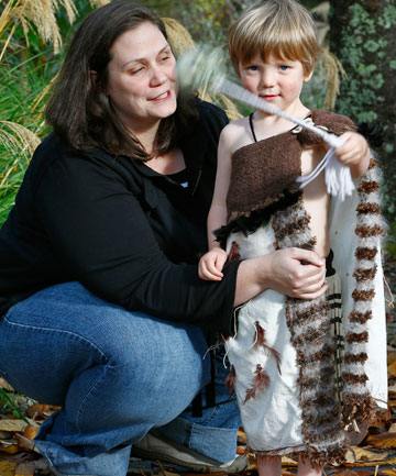 aurel Barr, of Upper Hutt, with her son Te Pō Atarau Cormack, who wants someone to perform as Maui for his fourth birthday
