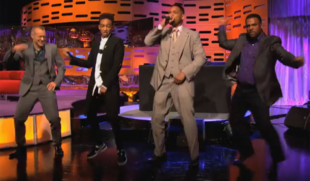 Will Smith gets jiggy with it as he performs the Fresh Prince theme on the Graham Norton show.