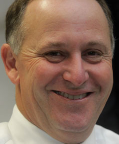 SMILING NOW: In one poll, John Key was up 3 at 42 per cent as preferred prime minister.
