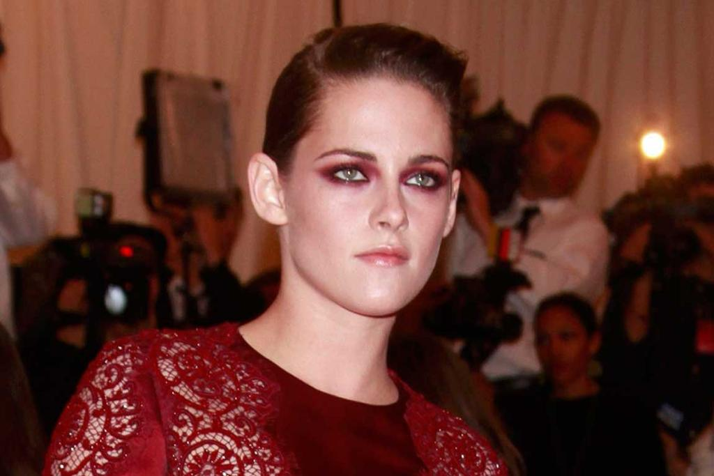 PARTY TIME: And here's a shot of Kristen Stewart partying at the Metropolitan Museum of Art Costume Institute Benefit.