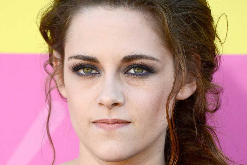 ALL LAUGH AND GIGGLES: Kristen Stewart at the Kid Choice Awards earlier this year.