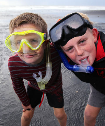 Zed Stewart-Cranson, 9, and Tom Butler, 12 have recently returned from a snorkeling trip at the Poor Knights Islands.
