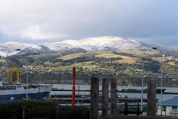 Port Hills dusted with snow