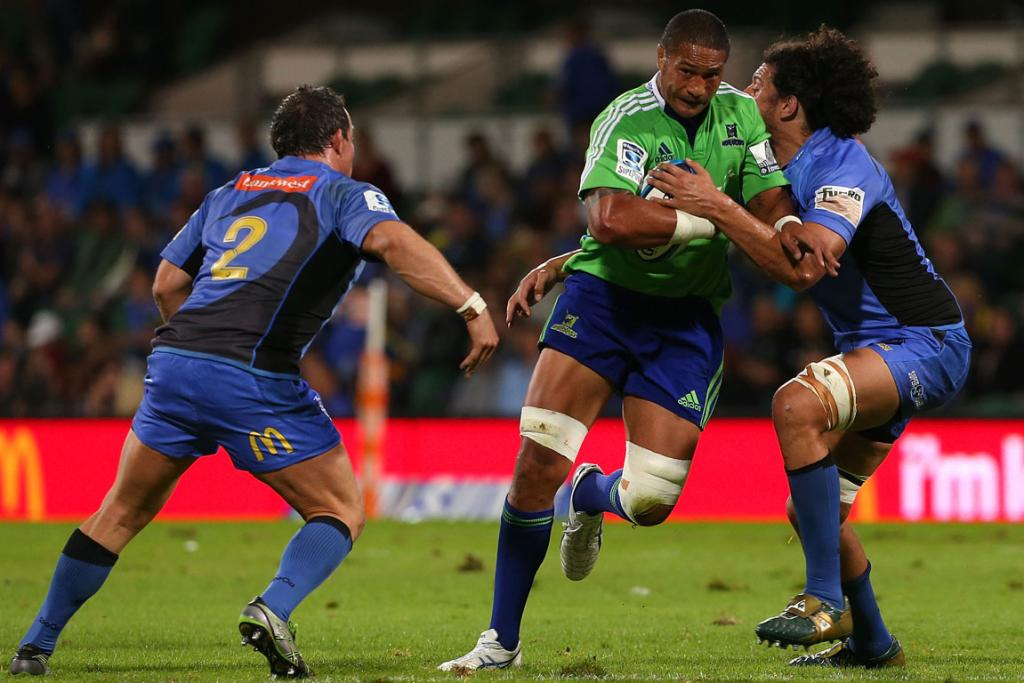 Mose Tuiali'i on the charge against the Western Force.