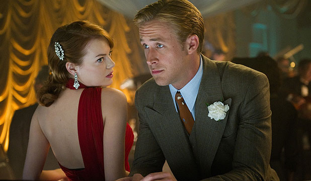 BOOTLEGGING IT: Emma Stone and Ryan Gosling in Gangster Squad.