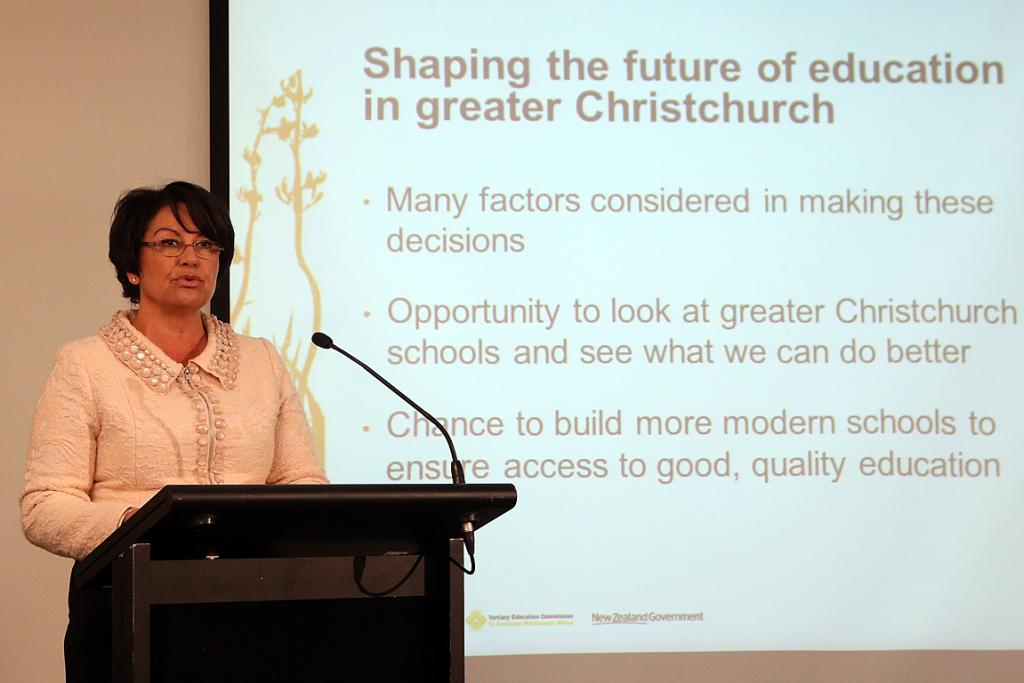 Hekia Parata in Christchurch May 2013