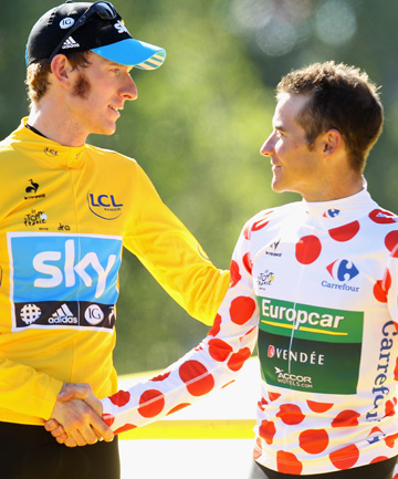 THRONE IS EMPTY: 2012 Tour de France champion Bradley Wiggins (left) has been forced to withrdraw from this year's race due to injury and illness.