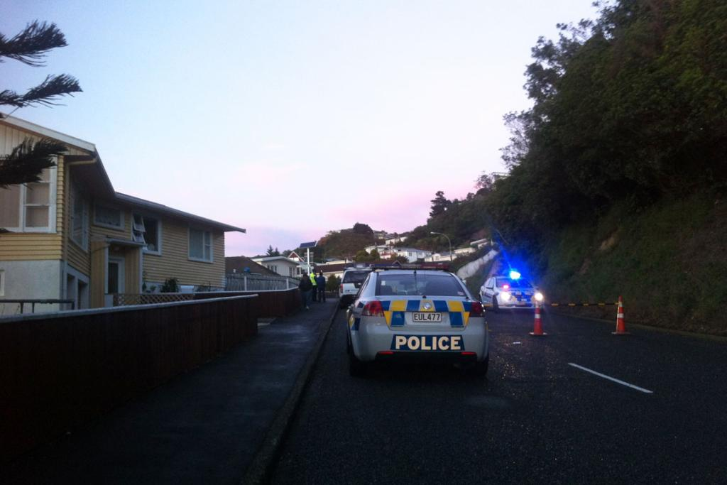 A police cordon on Priscilla Crescent as emergency crews work to evacuate the area.