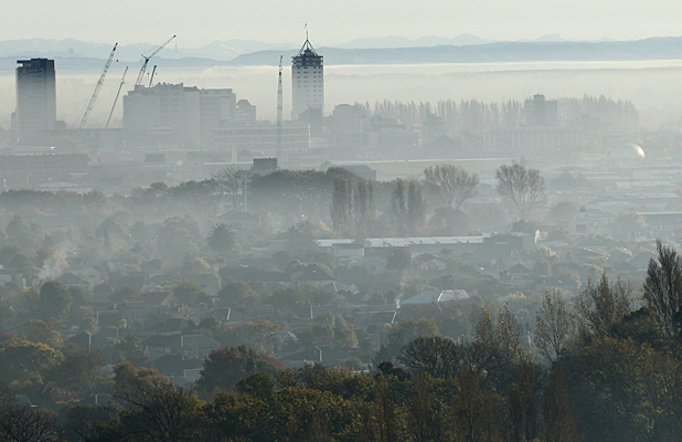 Smog over Christchurch