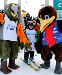 Mascots Spike and Shred with Tallulah Bryant