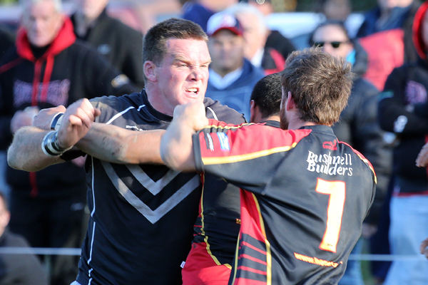 The pressure of the Halswell-Hornby derby boils over into a brawl.