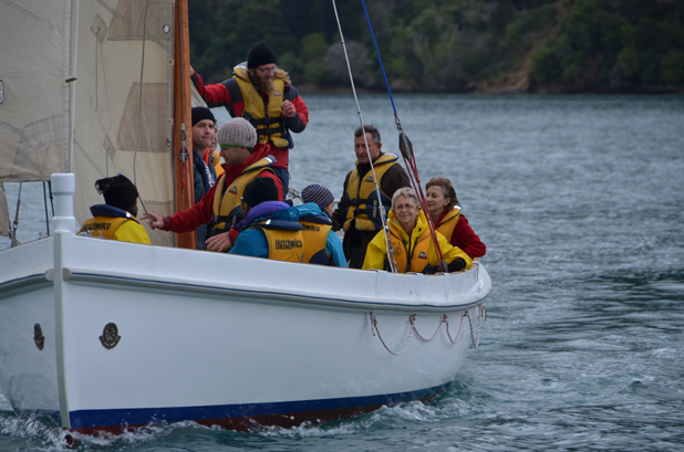 Saturday splurge: Outward Bound instructors took a group of key sponsors for a spin on the school's $180,000 new cutter over the weekend. The cutter is christened Sir Woolf, after a founding member of Outward Bound.
