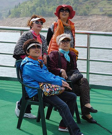 CHINESE PASSENGERS: The Three Gorges remain a central attraction of any Yangtze cruise