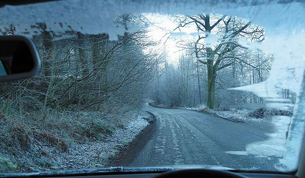 BLACK ICE: From behind the wheel it can be invisible.