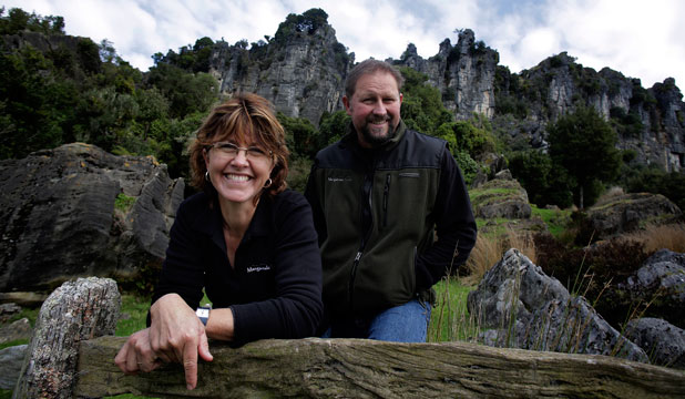 RUGGED BEAUTY: Warrick and Suzie Denize's farm is in footage chosen by Tourism NZ to promote The Hobbit overseas.