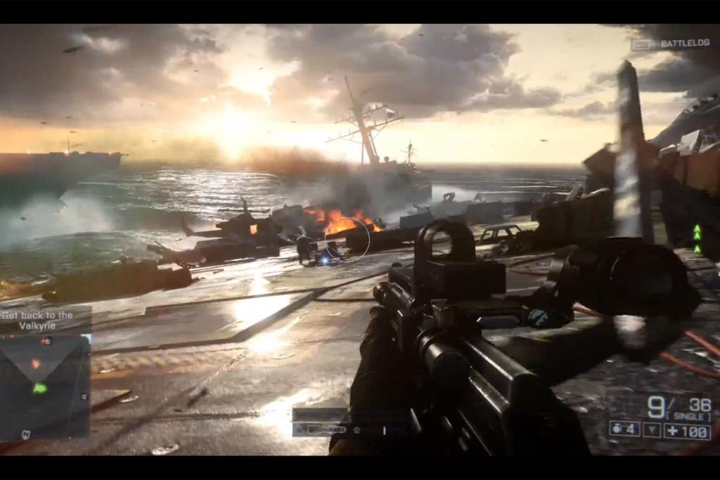 In-game footage from the newly unveiled Battlefield 4.