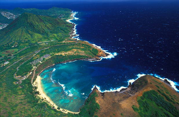 MARINE LIFE: Colourful Hanaumu Bay is a snorkelling paradise.