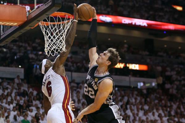 LeBron James and Tiago Splitter