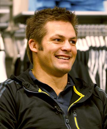SMILE: Richie McCaw speaks about his return to rugby.