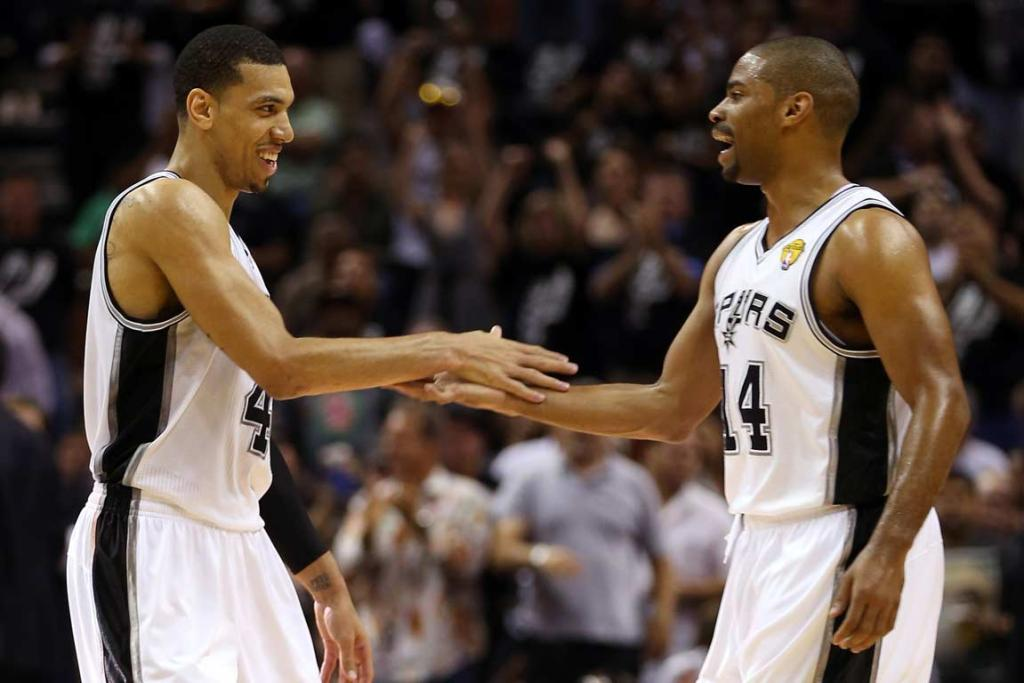 Danny Green and Gary Neal, who combined for 13 of the San Antonio Spurs' NBA Finals record 16 three-pointers in Game 3.