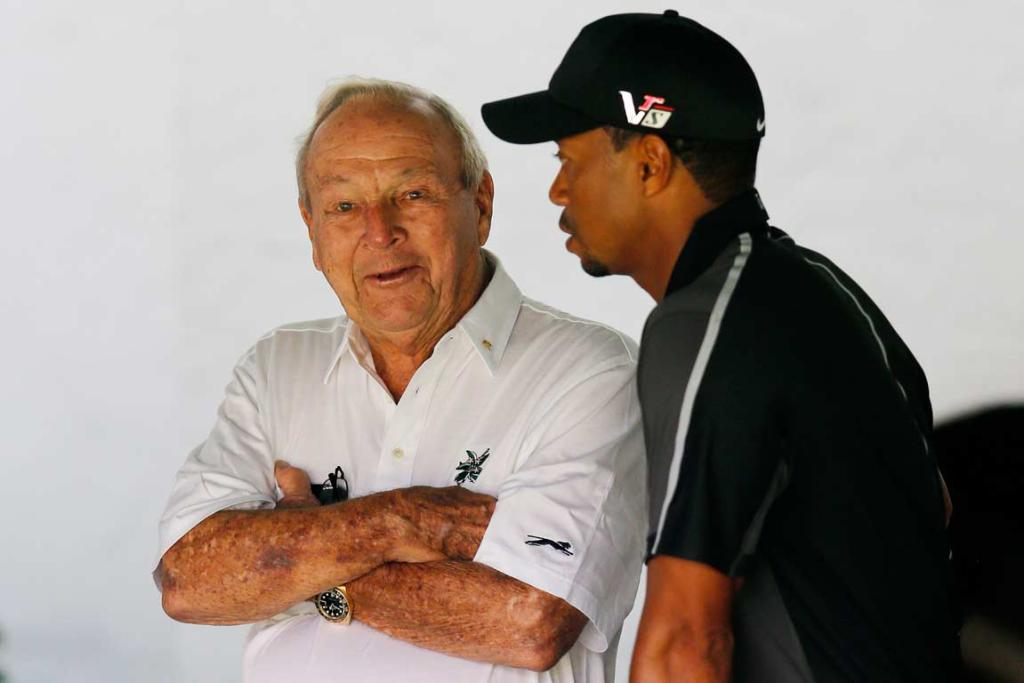 Arnold Palmer and Tiger Woods