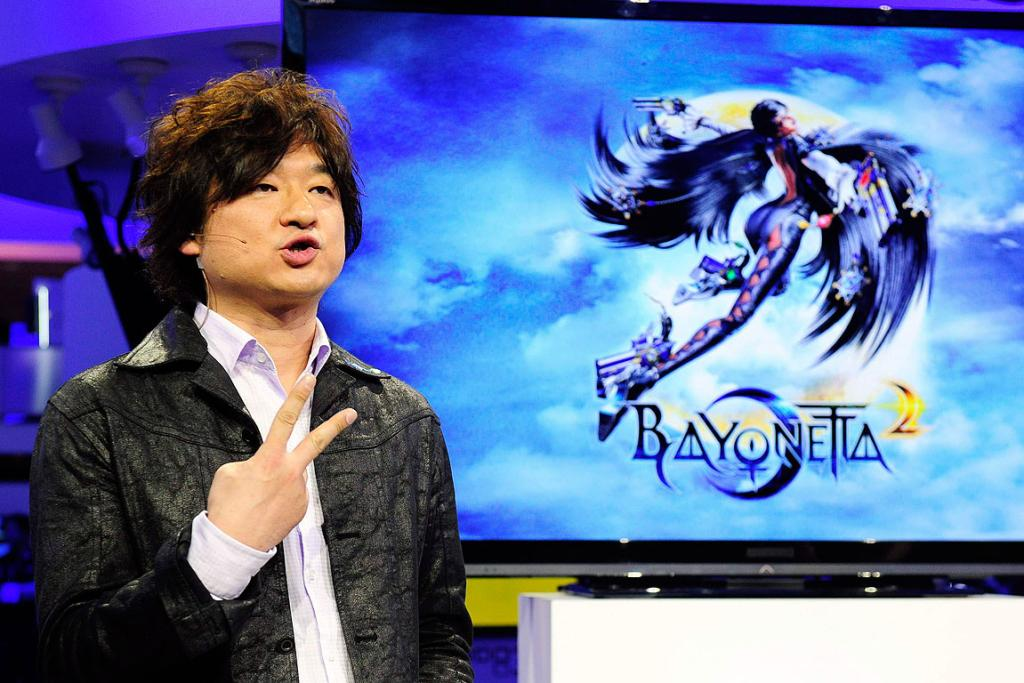 Game producer Atsushi Inaba talks about his latest collaboration Bayonetta 2 during the Wii U Software Showcase at E3.