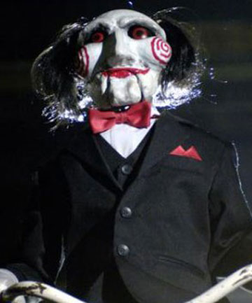 SCARY LESSON: The creepy puppet from Saw.