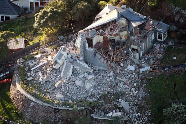 Lyttelton Timeball after 6.4 quake hit