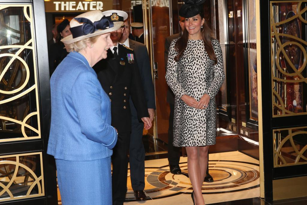 Kate, on a tour on board after the Princess Cruises ship naming ceremony.