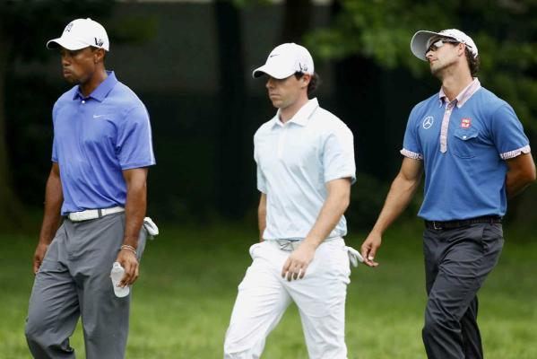 Tiger Woods, Rory McIlroy, Adam Scott