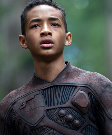 FAMILY TIES: WIll Smith's son Jaden gets the most screen time in sci-fi adventure After Earth.
