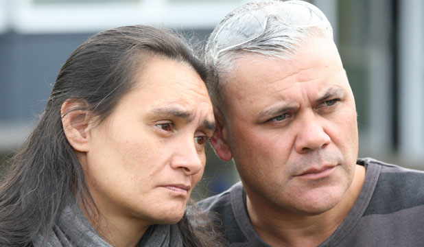 GRIEVING PARENTS: Brent and Mona Dudley, right, have spoken out against schoolyard violence following the death of their son, 15-year-old Stephen, after a fight at Kelston Boys' High.
