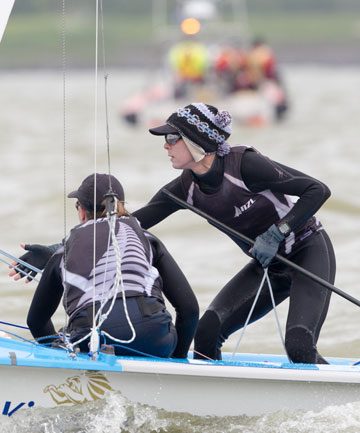 MORE MEDALS: Jo Aleh and Polly Powrie have won the medal race to secure silver at the European 470 sailing championships in Formia, Italy.