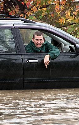 Unhappy motorist Anton Bailey in Riverlaw Tce, St Martins