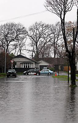 Flooding on Francis Ave. St Albans