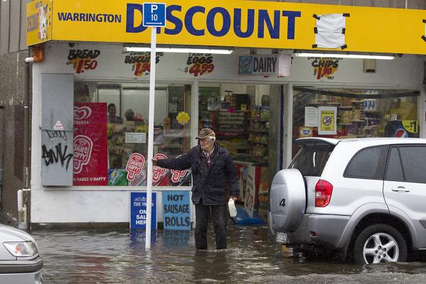 Warrington dairy flooding