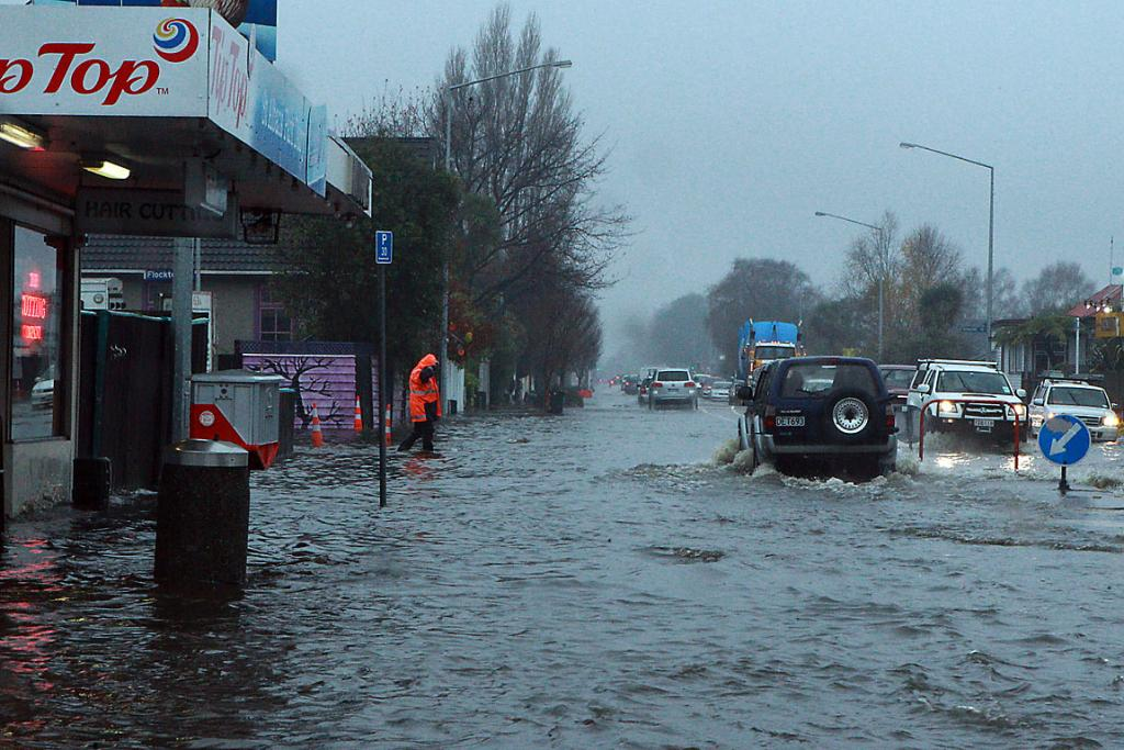 Warrington St floods