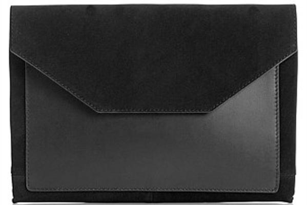 next leather envelope clutch