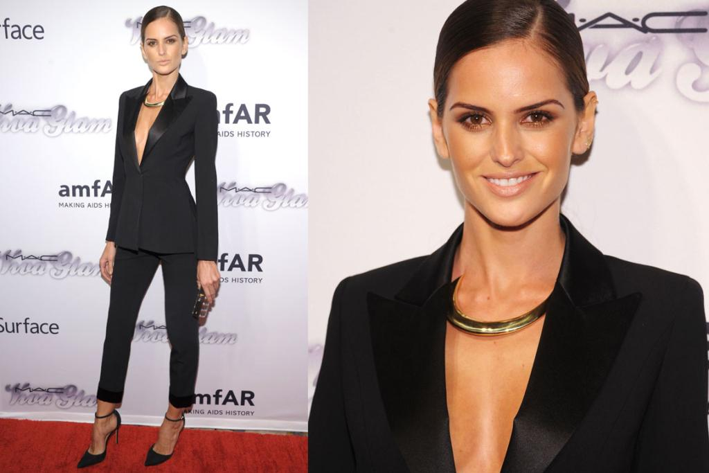 THE GOOD: Brazilian model Izabel Goulart is most commonly seen in a super-slinky gown, so I'm loving this super-sleek Alberta Ferreti suit. Just sexy enough.
