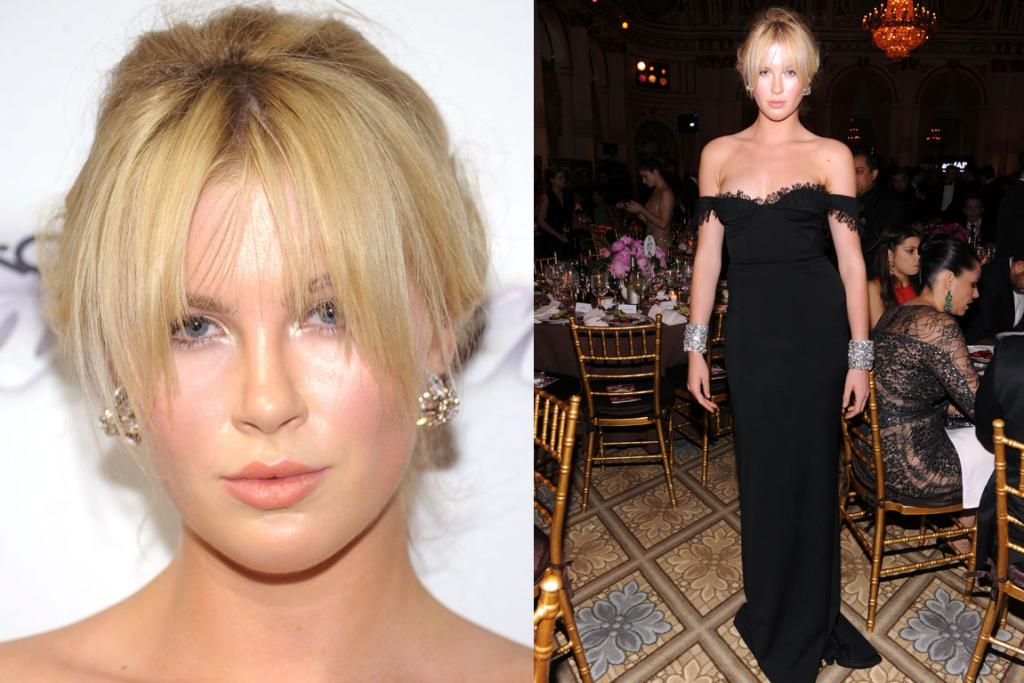 THE ALMOST: I'm thinking this look's overall is a bit too 'old' for gorgeous Ireland Baldwin, 17. Maybe this Dsquared gown would work better with a relaxed down-do. And, has her makeup artist gone crazy with the M.A.C. Fix+ or was it just mighty hot in there?