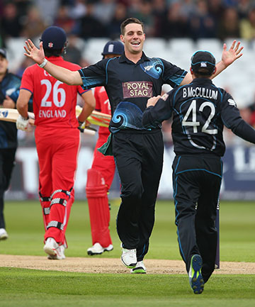 TOP JOB: Mitchell McClenaghan and the bowlers did their job, but the fielding and batting letting NZ down.