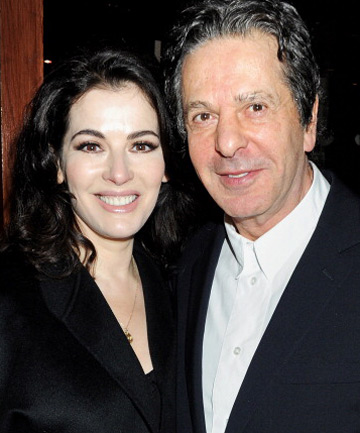 BEFORE THE STORM: Nigella and Charles Saatchi.