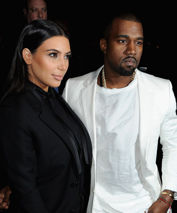 REALLY?: Kim Kardashian and Kanye West.