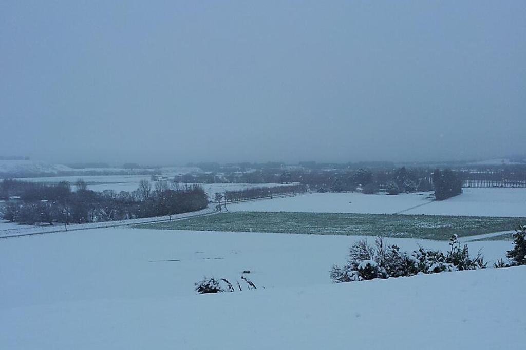 WHITE OUT: Farmer Andy Muir took this photo of his paddocks at Cattle Flat on the Mataura River, near Balfour.