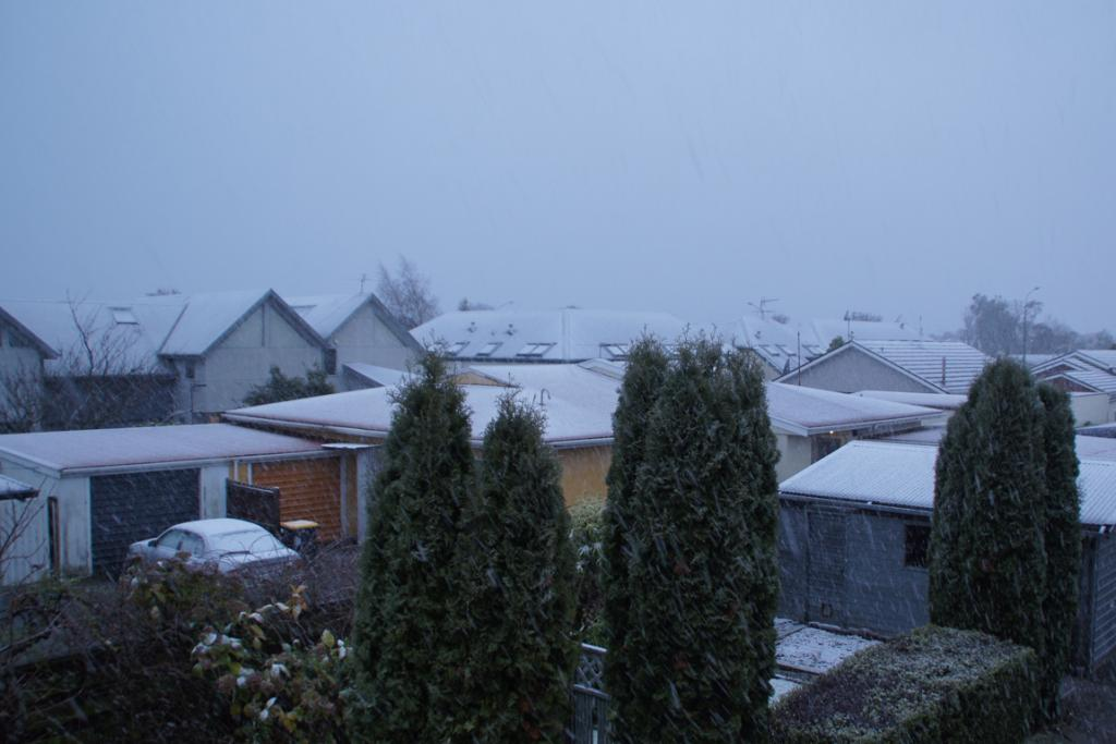 DUSTING: Snow in St Albans.
