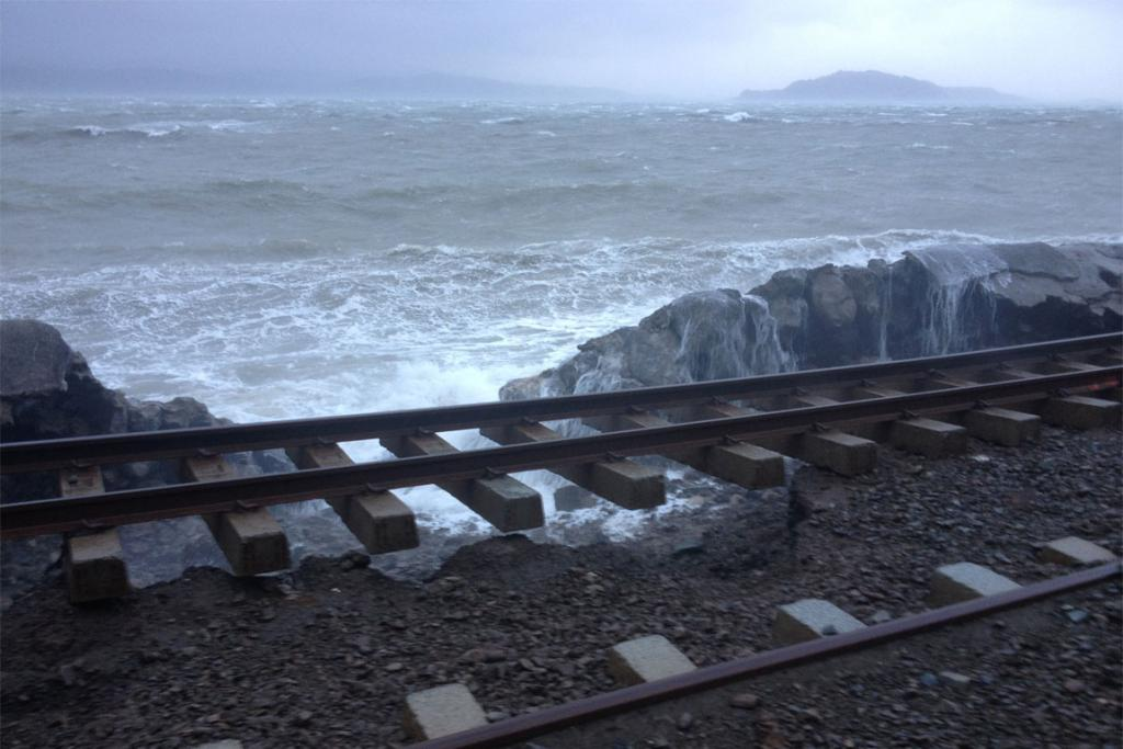 David Morgan sent in this photo of damaged train tracks on the Hutt Valley line.