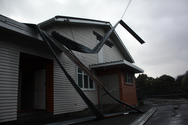 Raumati hall damage