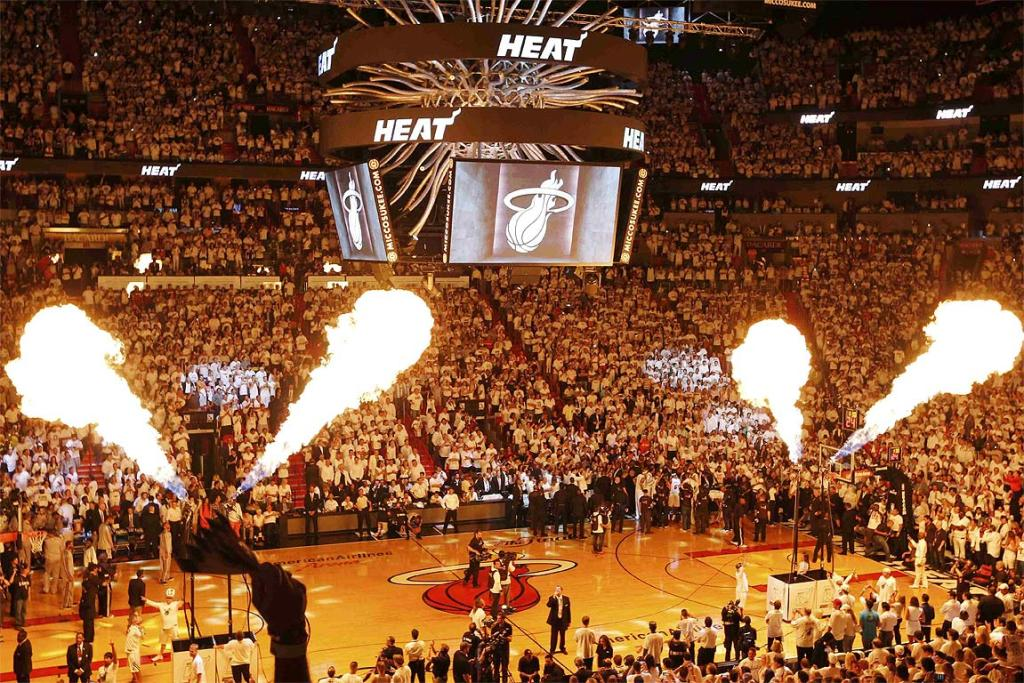 The pre-game show before the Miami Heat play the San Antonio Spurs in Game 7 of the NBA Finals series.